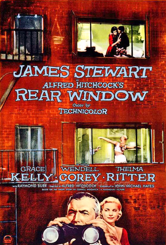 Rear Window poster, 1954.