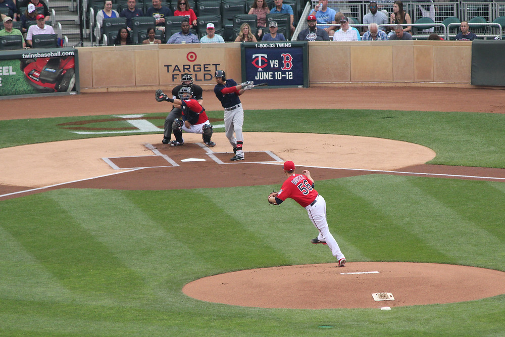 Mookie Betts strikes out in the first inning.  Picture by D.Talbot.