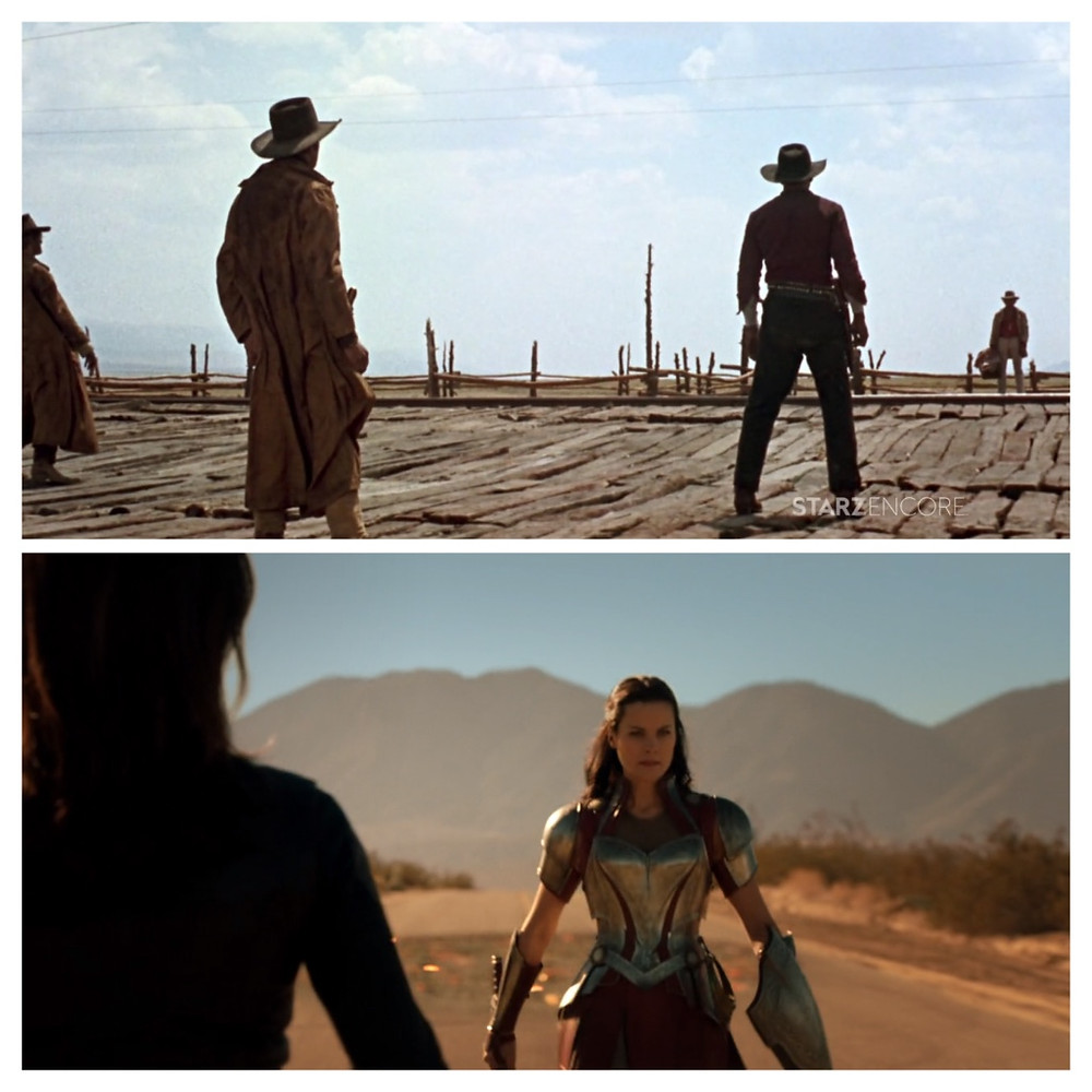 Leone's Once Upon A Time in the West and Lady Sif in an episode of Agents of S.H.I.E.L.D.