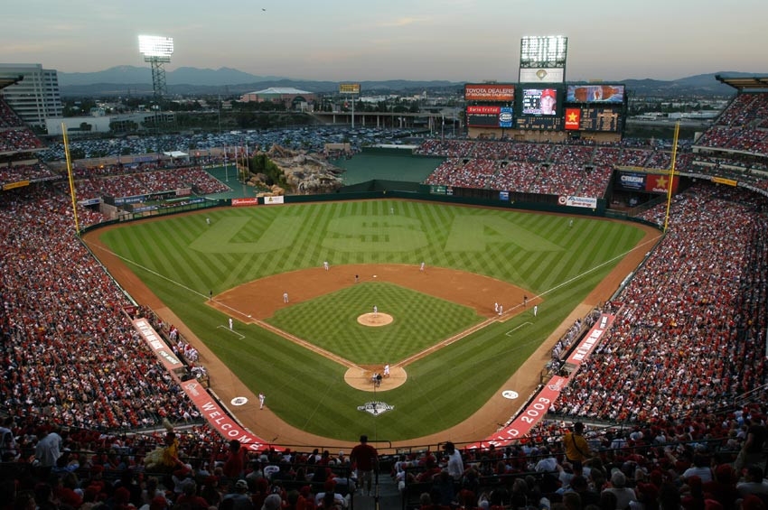 Angel Stadium of Anaheim. Public Domain.