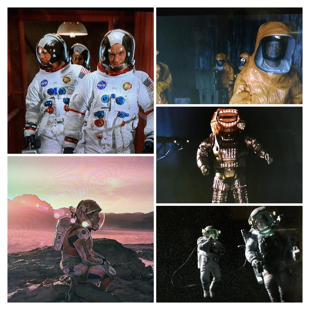 Clockwise from the top right: Arrival, Sunshine, Gravity, The Martian, Apollo 13. Arrangement by Pete Talbot.