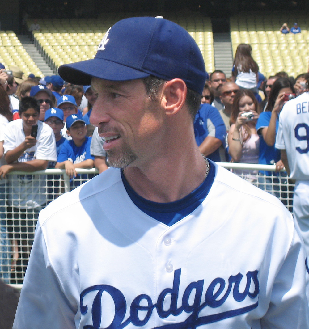 Luis Gonzalez as a Dodger. Public Domain.