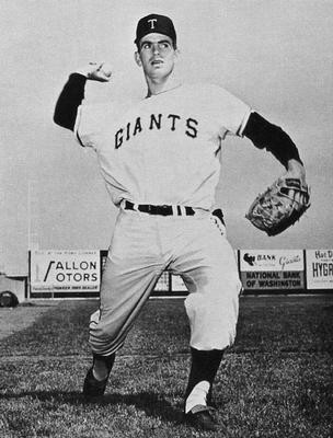 Gaylord Perry on the Tacoma Giants in 1961. Public Domain.