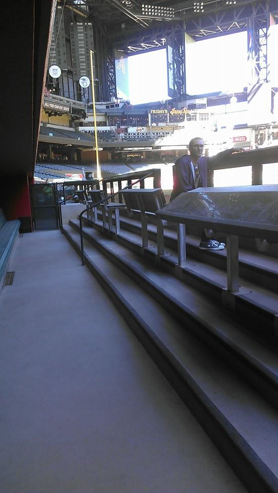 Diamondbacks dugout on a tour of Chase Field in Nov. 2014.