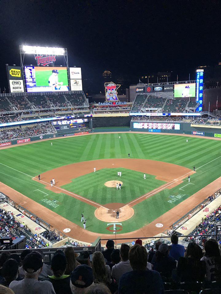 The view of Target Field from above Home Plate. Picture by Bruce Valen.