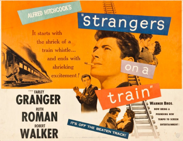 Poster for Strangers on a Train, 1951, Public Domain.