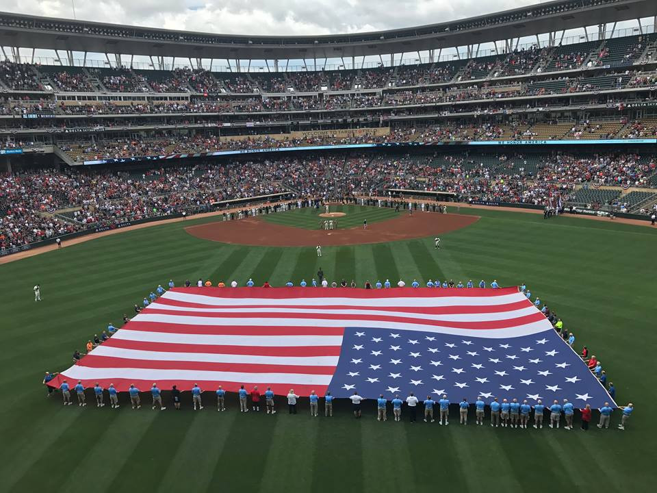 National Anthem at Target Field. Picture by Bruce Valen.