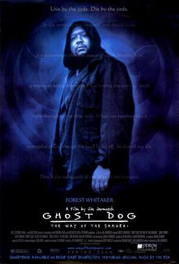 It turns out he is neither a ghost nor a dog. Ghost Dog poster, 1999.