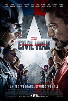 Just kiss already. Captain America Civil War poster, 2016. Fair Use.