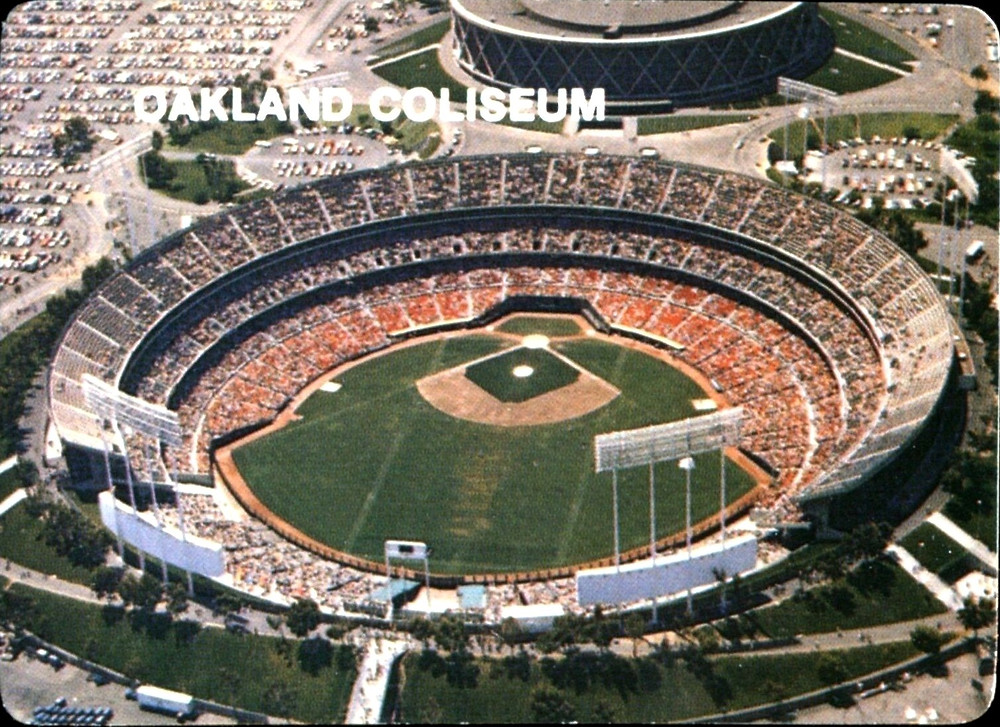 Oakland Coliseum. Mother's Cookies, 1984. Public Domain