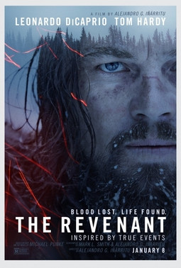 """""""The Revenant 2015 film poster"""" by Source. Licensed under Fair use via Wikipedia - https://en.wikipedia.org/wiki/File:The_Revenant_2015_film_poster.jpg#/media/File:The_Revenant_2015_film_poster.jpg"""