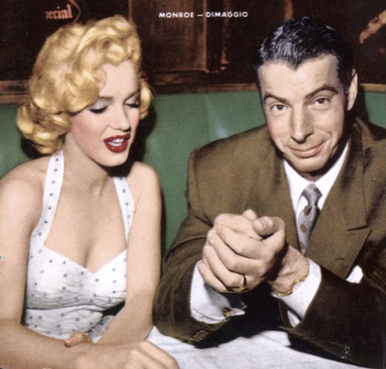 Marilyn Monroe and Joe DiMaggio, 1954.