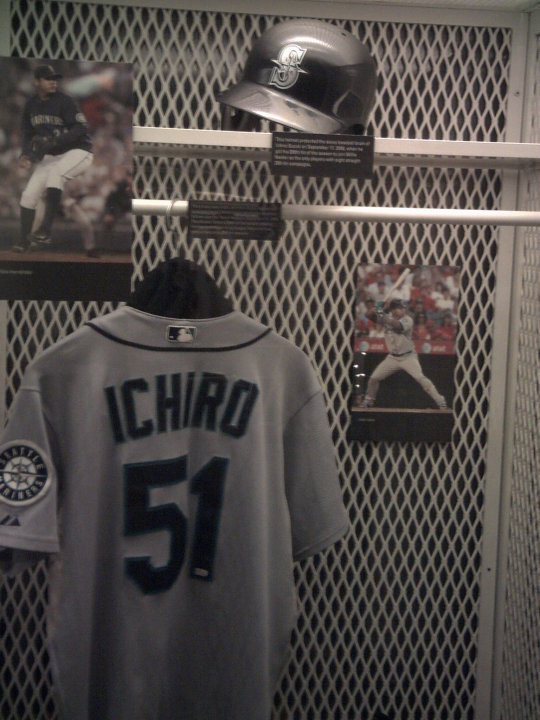 Ichiro's Jersey in the Hall of Fame.  Pete Rose's plaque is no where to be seen.