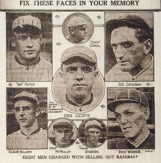 The eight men out. Public Domain.