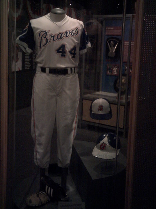 Hank Aaron exhibit at the Baseball Hall of Fame.