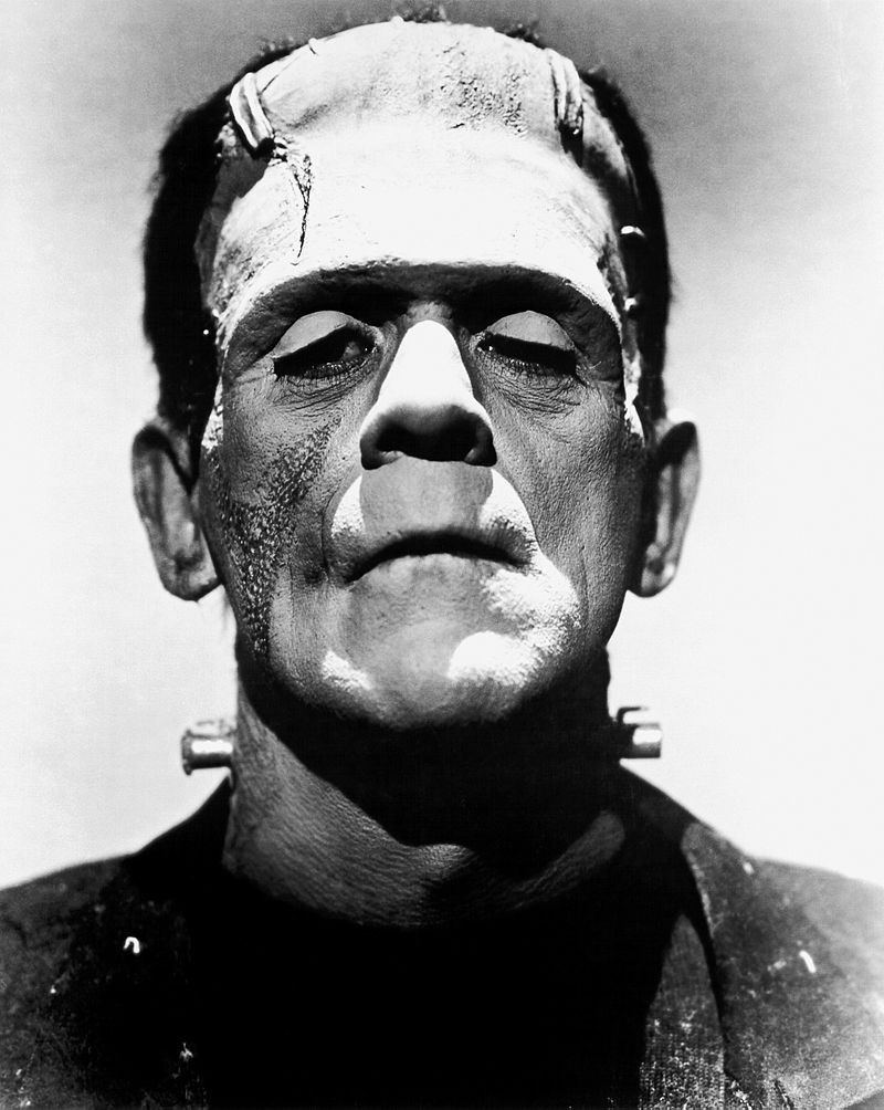 Boris Karloff as OG Frankenstein's Monster. Universal publicity photo, Public Domain.