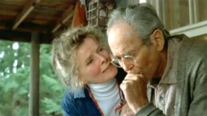 Gone fishin' with Oscar bait. Katherine Hepburn and Henry Fonda, On Golden Pond, 1981.