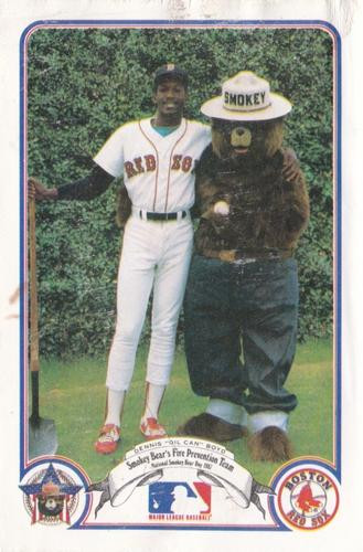 A 1987 Oil Can Boyd baseball card that was totally normal.