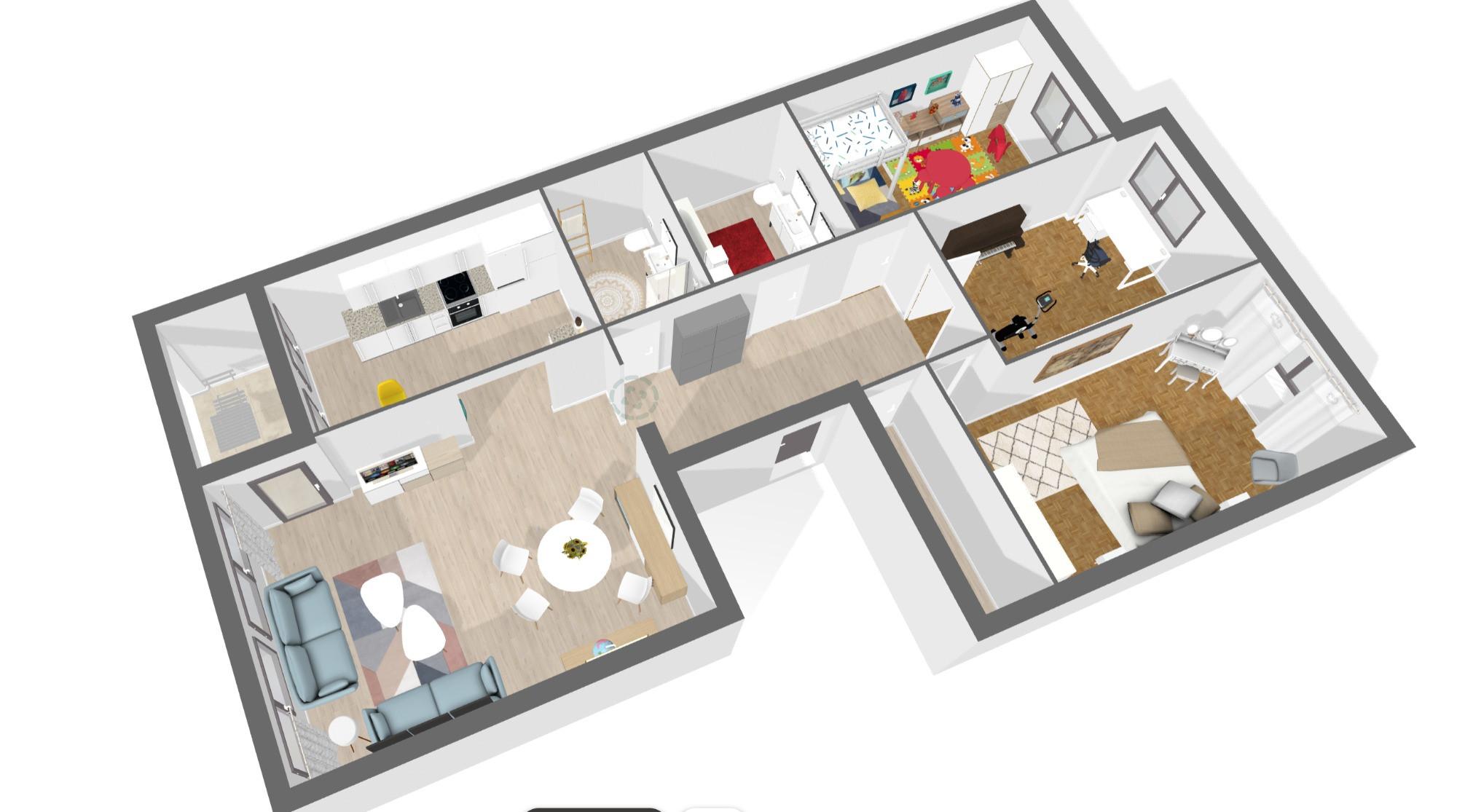 Plan 3D d'une pièce
