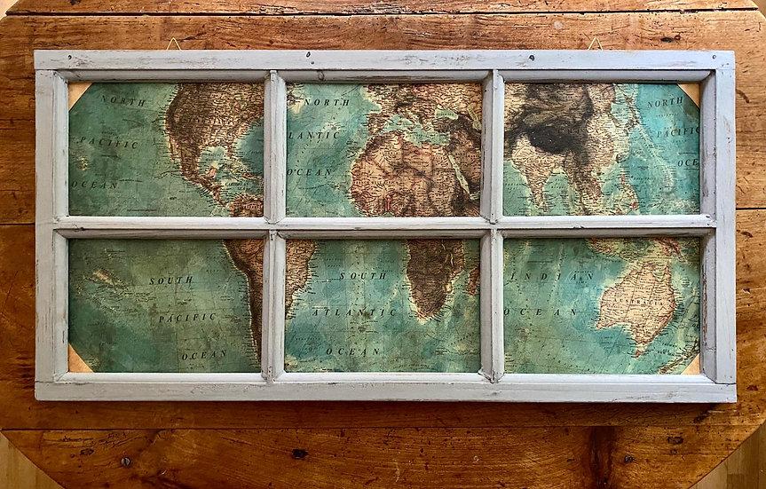 Fenêtre tableau Monde