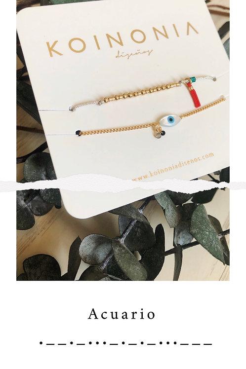 ACUARIO - código morse / Oro laminado