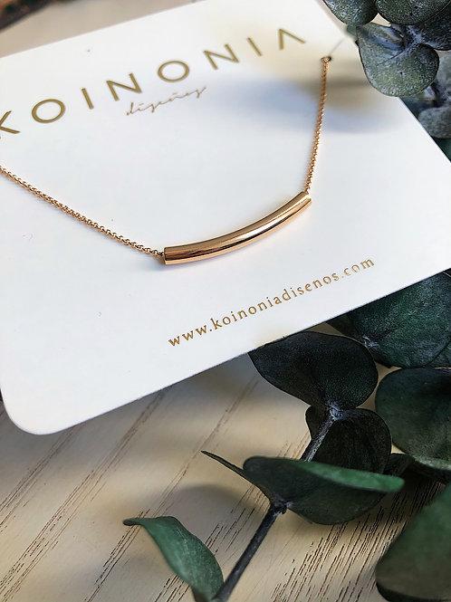 Collar cilindro 2.5 cm / Oro laminado 18k
