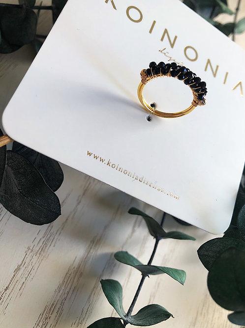Anillo onix / Oro laminado