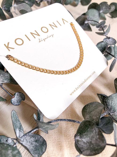 Collar BELLA / Oro lamino de 18k