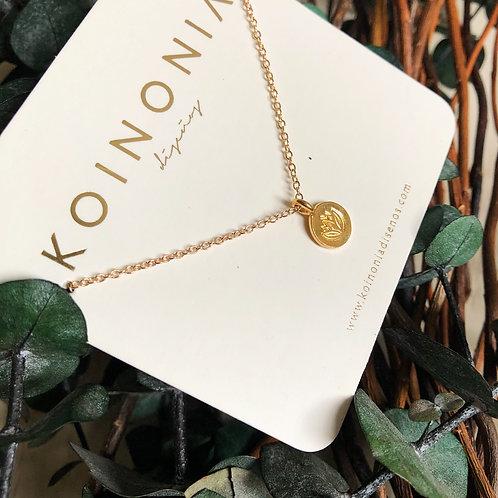 Collar flor de loto / Oro laminado
