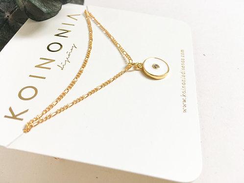 Collar DOBLE AJUSTABLES circular / Oro lamino de 18k