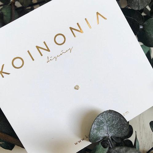 Zirconia rodeada / Oro 10k