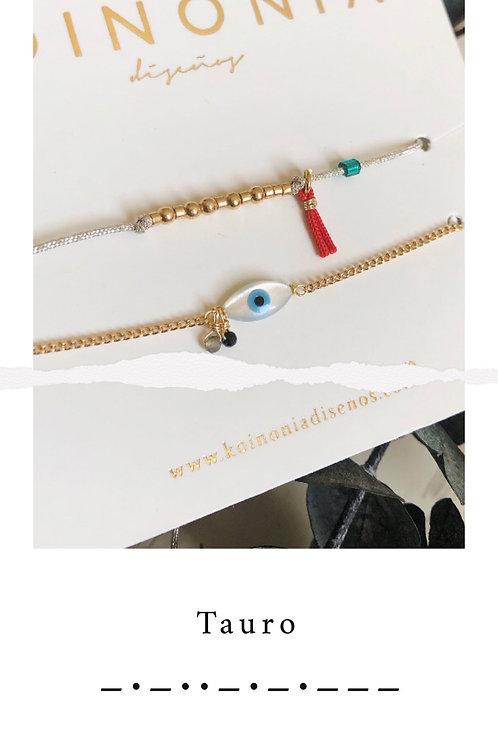 TAURO - código morse / Oro laminado