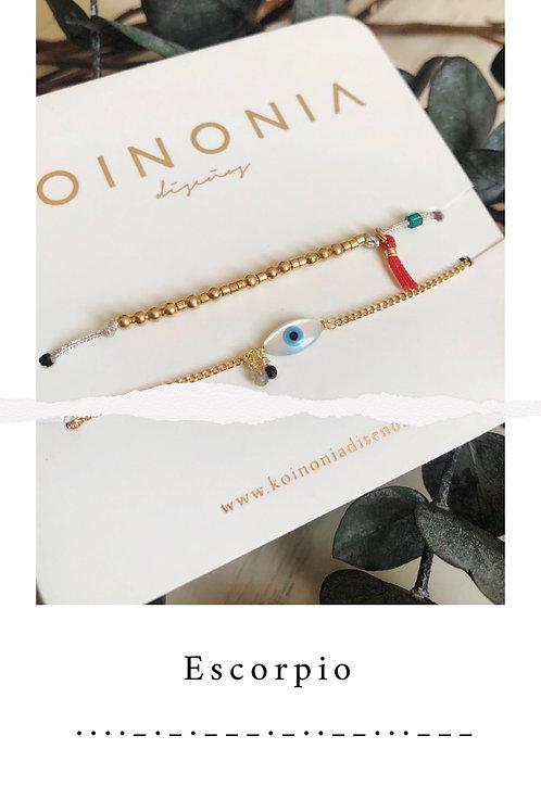 ESCORPIO - código morse / Oro laminado