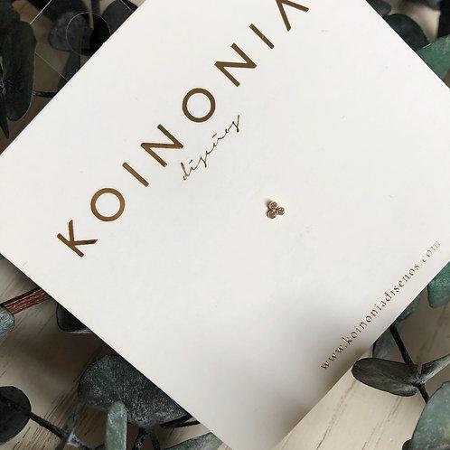 Puntos con zirconias / oro 10 k