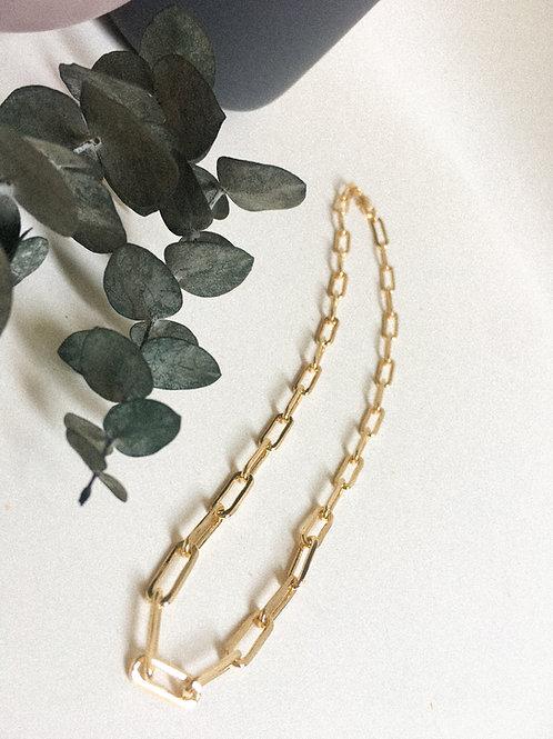 Collar JUNI eslabón grande  / Oro lamino de 18k