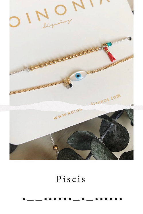 PISCIS - código morse / Oro laminado