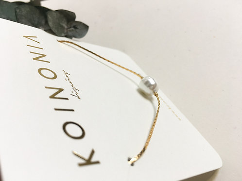 Collar JULI perla barroca / Oro lamino de 18k