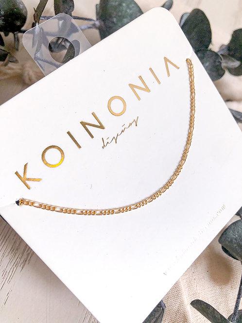 Collar BELLA estrecha / Oro lamino de 18k