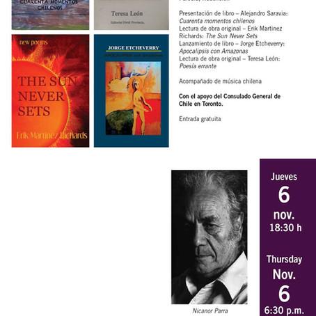 Jornada Chilena: Celebrando el centenario de Nicanor Parra