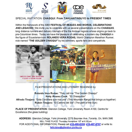 Special invitation: Chasqui: From Tahuantinsuyo to Present Times
