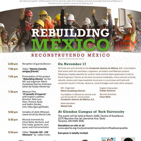 Rebuilding Mexico, on November 17