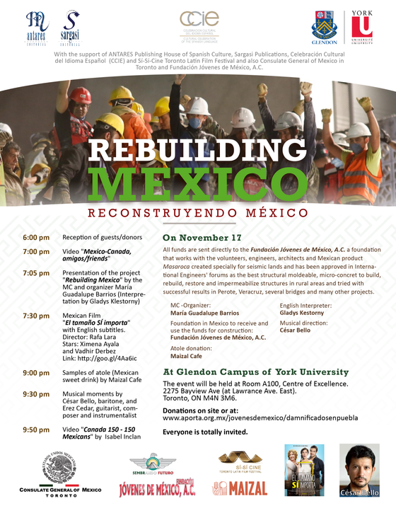 Rebuilding Mexico, on November 17