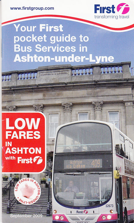 First Pocket Guide to Bus Services in Ashton-under-Lyne - September 2009