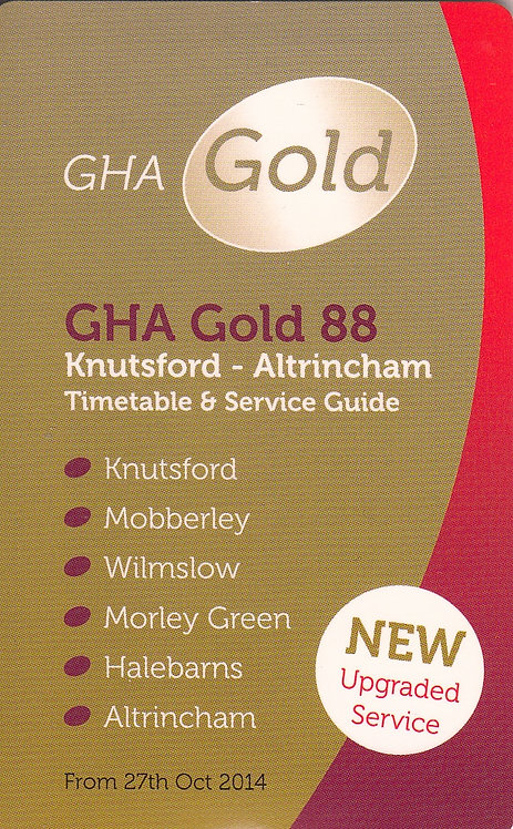 Bus Timetable Leaflet for GHA service 88 - 2014