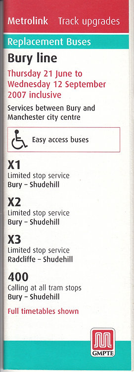 Metrolink - Replacement Bus Services - Bury Line - June 2007