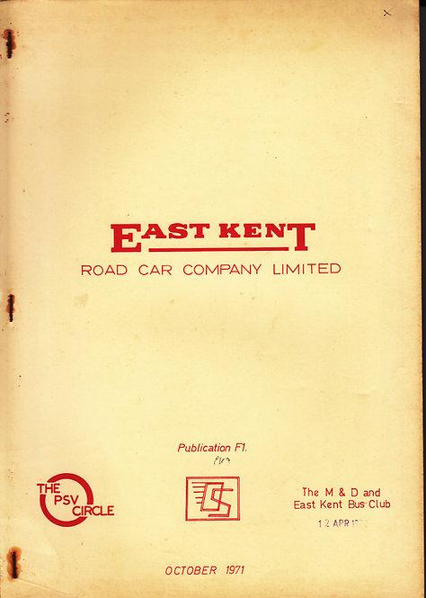 East Kent Road Car Co - Fleet History F1