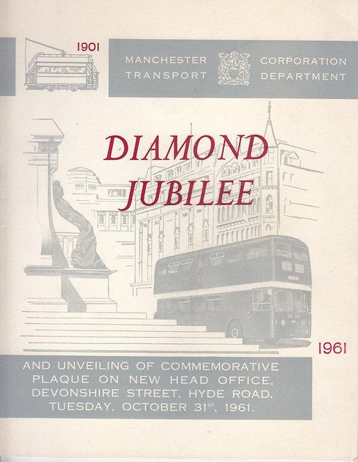 Manchester Corporation Transport - Diamond Jubilee - Commemorative Brochure 1961