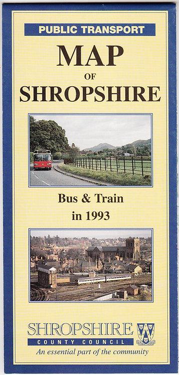 Shropshire Bus Map - 1993