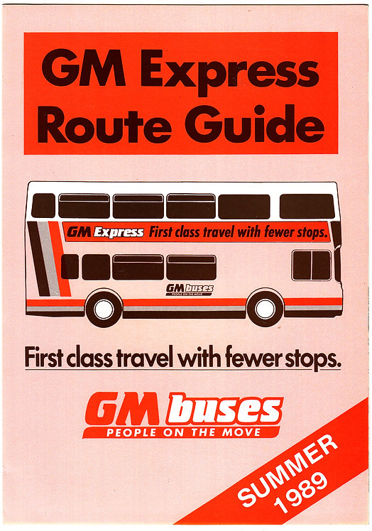 GM Buses Express Route Guide - 1989
