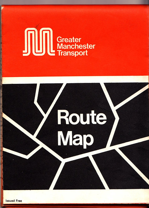Greater Manchester Transport Map - 1975